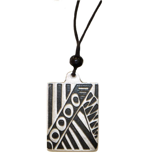 Pendant Plated Rectangle Al