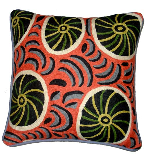 Cushion Cover Chainstitch By Maringka Burton