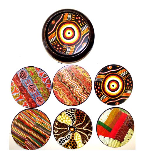 Coasters Hard Case by Iwantja Arts 2nd Design
