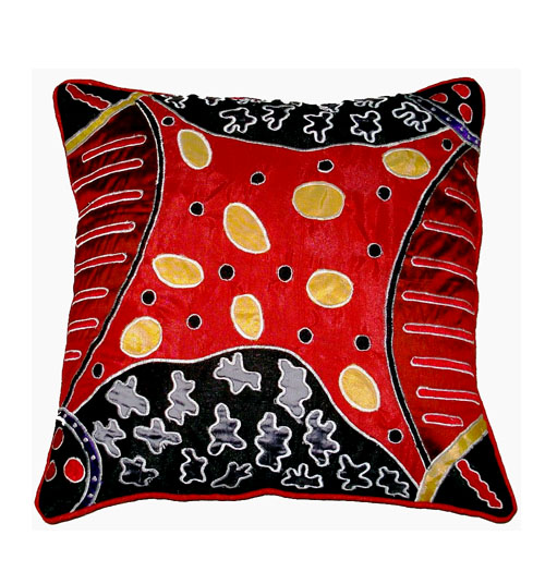 Cushion Cover Applique & Embriodery