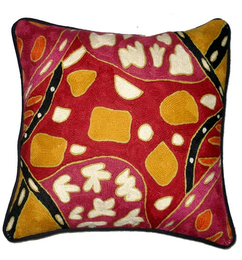 Cushion Cover Chainstitch By Bridgett Walace