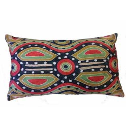 CUSHION COVER CHAINSTITCH 30CMX50CM BY LYN NUNGARRA
