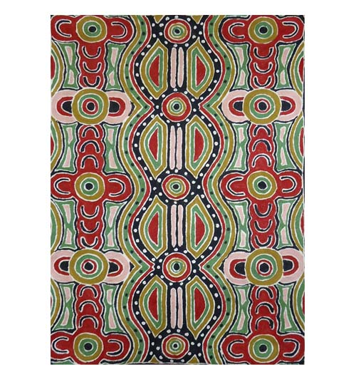 Chainstitch Rug 2x3 feet By Lyn Nungarrayi Sims