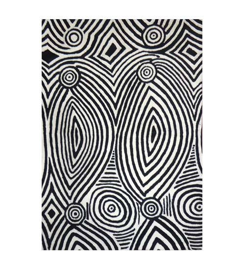 Chainstitch Rug 2x3 feet Byy Pauline Napangardi Gallagher