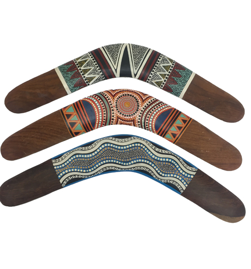 Authentic hand painted Boomerangs
