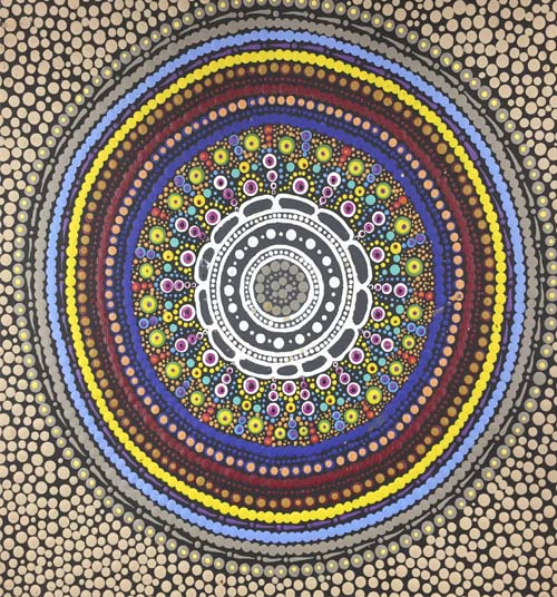 Kara Napangardi Ross- Pamapardu Jukurrpa (Flying Ant Dreaming)