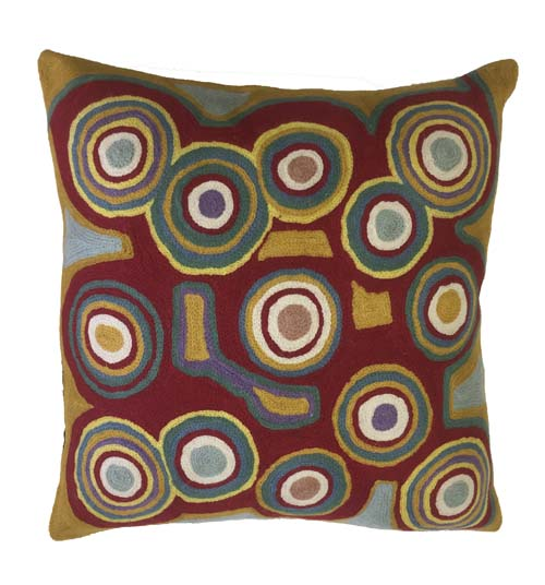 Cushion Cover Chainstitch- Bessie Nakamarra Sims