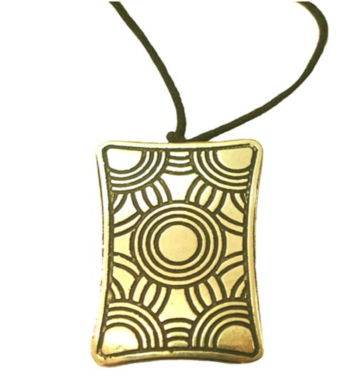 Pendant Plated Rectangle - Click Image to Close