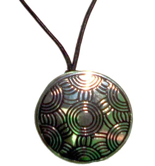 Pendant Plated Round - Click Image to Close