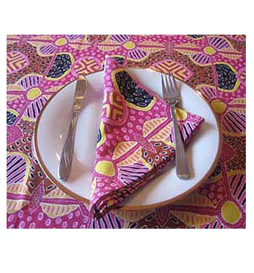 Keringke Table xCloth and napkin set Pink - Click Image to Close