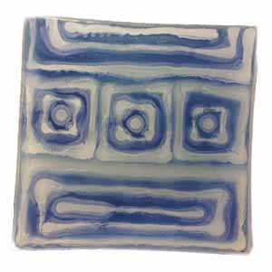 Summer Matthews- Blue Small Glass Sushi Plate - Click Image to Close